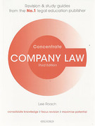 Cover of Concentrate: Company Law