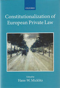 Cover of Constitutionalization of European Private Law