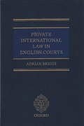 Cover of Private International Law in the English Courts