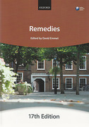 Cover of Bar Manual: Remedies
