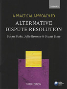 Cover of A Practical Approach to Alternative Dispute Resolution