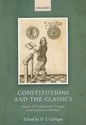 Cover of Constitutions and the Classics: Patterns of Constitutional Thought from Fortescue to Bentham