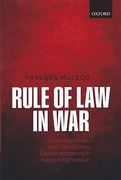 Cover of Rule of Law in War: International Law and United States Counterinsurgency Doctrine in the Iraq and Afghanistan Wars