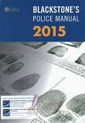 Cover of Blackstone's Police Manual 2015: Volume 1 - Crime