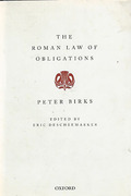 Cover of The Roman Law of Obligations