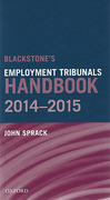 Cover of Blackstone's Employment Tribunal Handbook 2014-2015