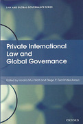 Cover of Private International Law and Global Governance