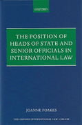 Cover of Position of Heads of State and Senior Officials in International Law