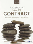 Cover of Koffman & Macdonald's Law of Contract