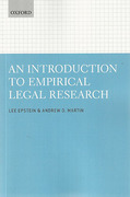 Cover of An Introduction to Empirical Legal Research
