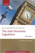 Cover of Blackstone's Guide to The Anti-Terrorism Legislation