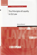Cover of The Principle of Loyalty in EU Law