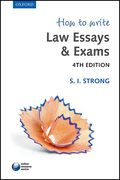 Cover of How to Write Law Essays & Exams