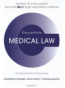 Cover of Concentrate: Medical Law