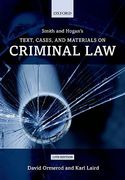 Cover of Smith & Hogan's Text, Cases and Materials on Criminal Law