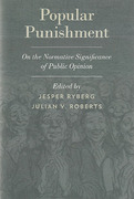 Cover of Popular Punishment: On the Normative Significance of Public Opinion