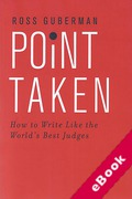 Cover of Point Taken: How to Write Like the World's Best Judges (eBook)
