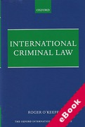 Cover of International Criminal Law (eBook)