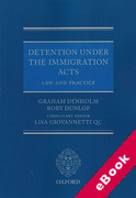 Cover of Detention Under the Immigration Acts: Law and Practice (eBook)