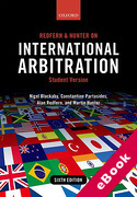 Cover of Redfern & Hunter on International Arbitration 6th ed: Student Version (eBook)