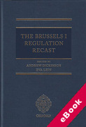 Cover of The Brussels I Regulation Recast (eBook)