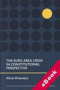 Cover of The Euro Area Crisis in Constitutional Perspective (eBook)