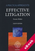 Cover of A Practical Approach to Effective Litigation (eBook)
