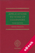 Cover of Applications to Wind Up Companies (eBook)