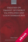 Cover of Treaties on Transit of Energy via Pipelines and Countermeasures (eBook)