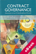 Cover of Contract Governance: Dimensions in Law and Interdisciplinary Research (eBook)