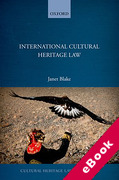 Cover of International Cultural Heritage Law (eBook)
