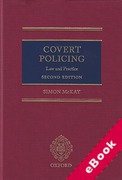Cover of Covert Policing: Law and Practice (eBook)