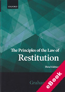 Cover of The Principles of the Law of Restitution (eBook)