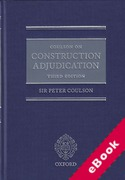 Cover of Coulson on Construction Adjudication (eBook)