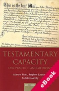 Cover of Testamentary Capacity: Law, Practice, and Medicine (eBook)