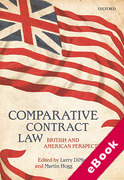 Cover of Comparative Contract Law: British and American Perspectives (eBook)