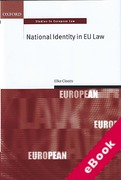 Cover of National Identity in EU Law (eBook)