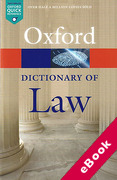 Cover of Oxford Dictionary of Law (eBook)