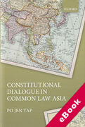 Cover of Constitutional Dialogue in Common Law Asia (eBook)