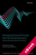 Cover of Managing Diversity Through Non-Territorial Autonomy: Assessing Advantages, Deficiencies, and Risks (eBook)