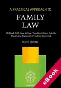 Cover of A Practical Approach to Family Law (eBook)