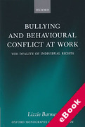 Cover of Bullying and Behavioural Conflict at Work: The Duality of Individual Rights (eBook)