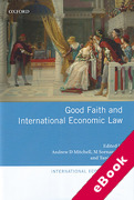 Cover of Good Faith and International Economic Law (eBook)