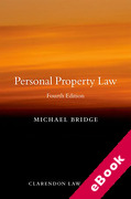 Cover of Personal Property Law (eBook)