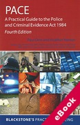 Cover of PACE: A Practical Guide to the PACE Act 1984 (eBook)