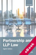 Cover of Partnership and LLP Law (eBook)