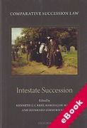 Cover of Comparative Succession Law Volume II: Intestate Succession (eBook)