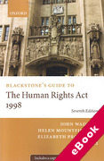 Cover of Blackstone's Guide to the Human Rights Act 1998 (eBook)