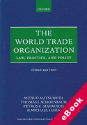 Cover of World Trade Organization: Law, Practice and Policy (eBook)