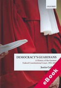Cover of Democracy's Guardians: A History of the German Federal Constitutional Court, 1951-2001 (eBook)